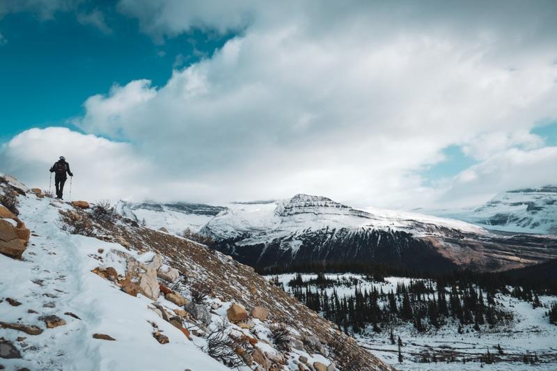 La randonnée de la Iceline dans l'ouest du canada