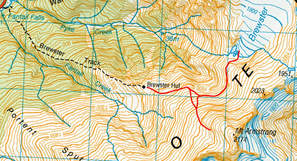 Carte topo Brewster glacier