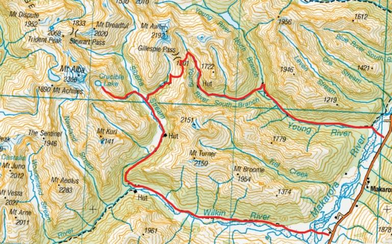 Carte du Gillespie Circuit